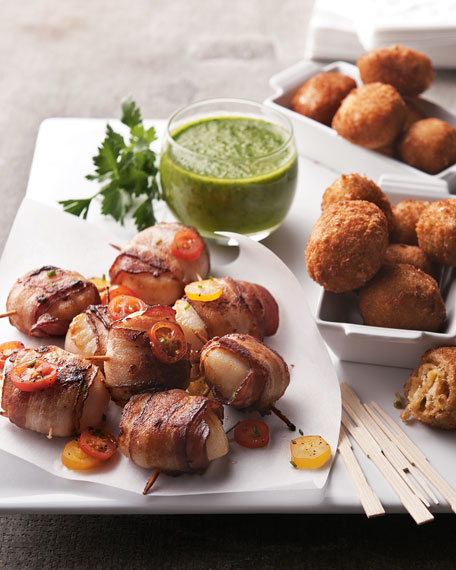 Bacon-Wrapped Sea Scallops & Crab-Meat Jalapeno Kickers