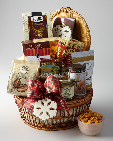 """Fireside"" Two-Tier Gift Basket"