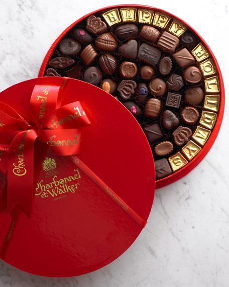 """Happy Holidays"" Chocolate Tin"