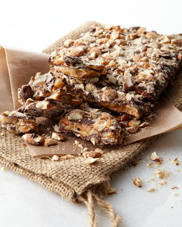 Chocolate-Covered Almond Toffee