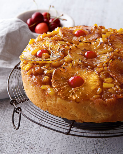 Pineapple Upside-Down Cake  For 8-10 People