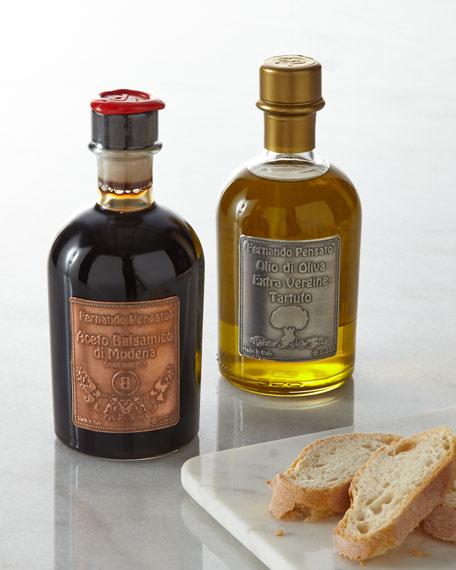 Metal Label Truffle Olive Oil & Balsamic Vinegar