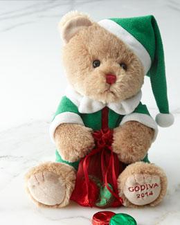 Godiva 2014 Christmas Bear with Chocolates
