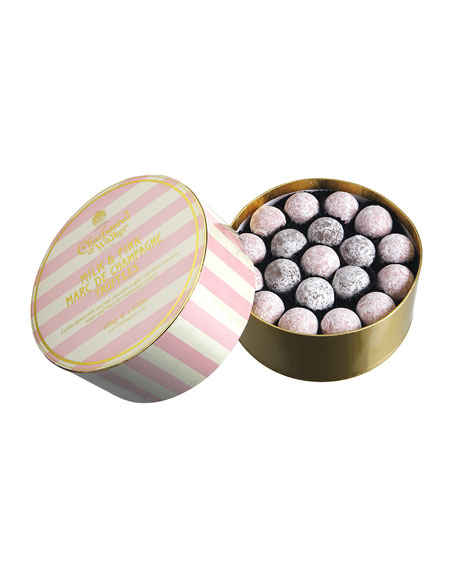 Pink and Milk Marc de Champagne Truffles