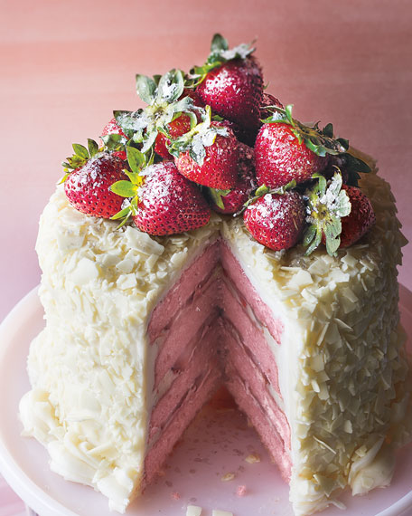Strawberry Layer Cake, For 6-8 People