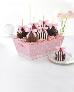 Pink Heart Petite Caramel Apples