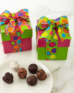 Chocolates with Polka-Dot Ribbon