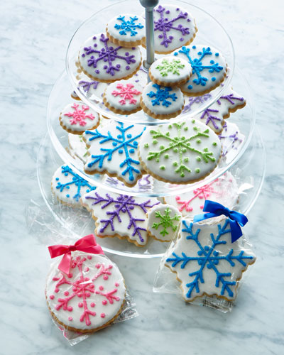 Colorful Snowflake Cookies