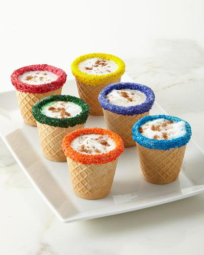 Multicolored Chocolate WaffleShots