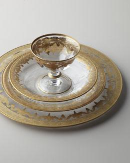 """Arte Italica """"Vetro Gold"""" Dinnerware & Glassware"""
