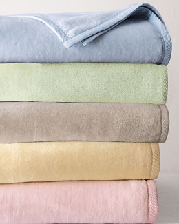 "SFERRA ""St. Moritz"" Brushed Cotton Blankets"