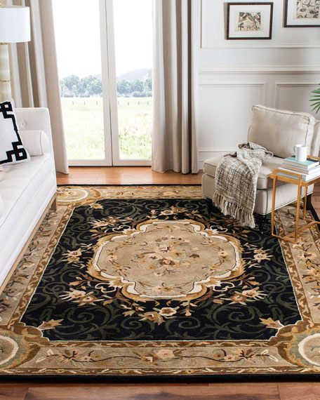Aubusson Night Rug, 6' x 9'
