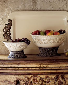 GG Collection Ceramic Serving Bowls & Tray