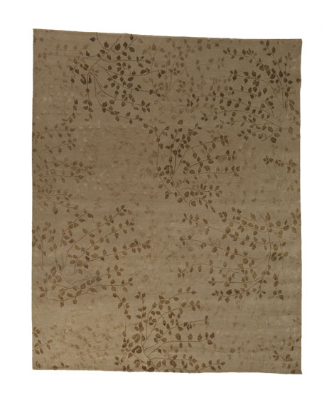 Tibetan Leaves Rug, 6' x 9'