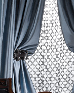 "Amity Imports ""Radiance"" Silk Curtains"
