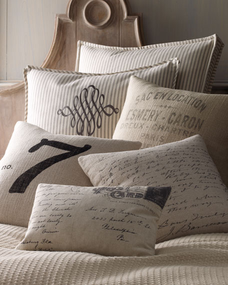 FRENCH WORDS 22X22 PILLOW