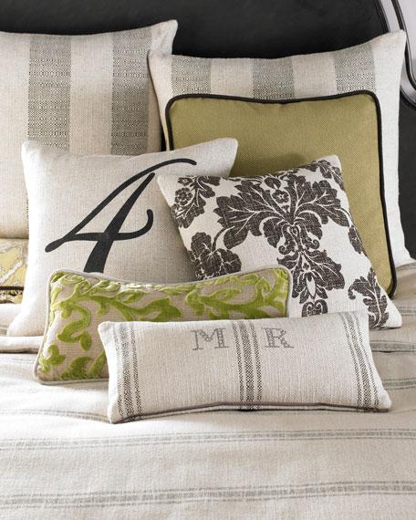 "Spring Garden Monogrammed Pillow, 12"" x 20"""