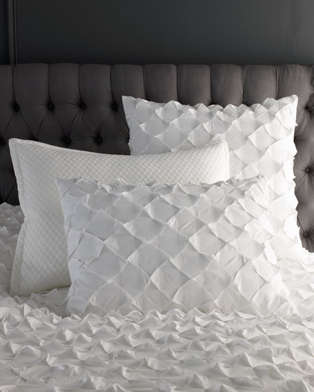 Queen Puckered Diamond Duvet Cover