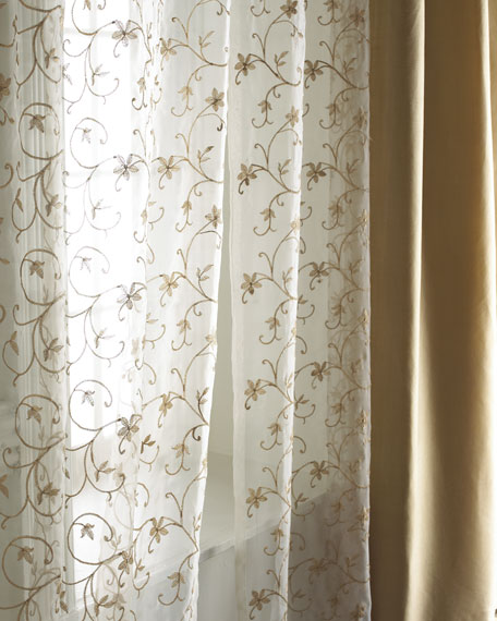 "Each 54""W x 96""L Vienna Sheer"