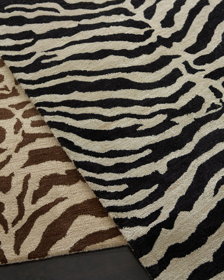 "Traditional Zebra Rug, 7'9"" x 9'9"""