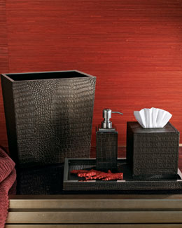 Crocodile-Embossed Vanity Accessories