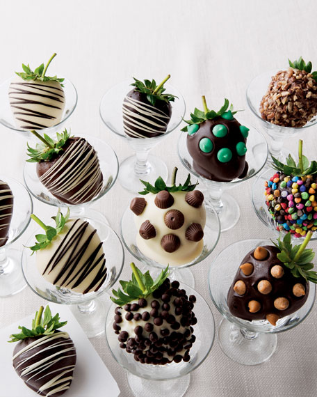 Chocolate Strawberries with Drizzles