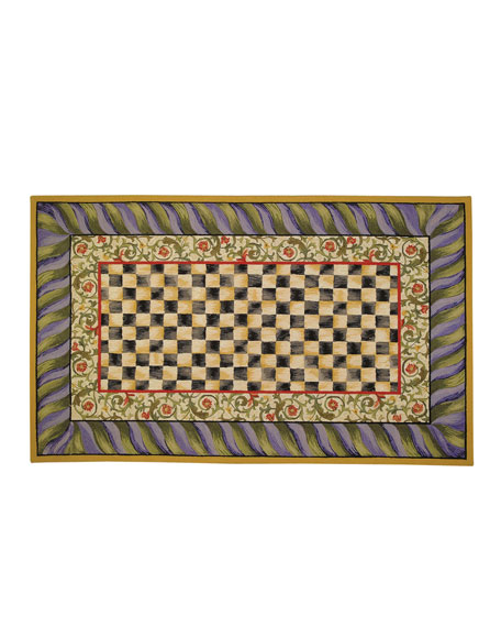 Courtly Check Rug, 5' x 8'