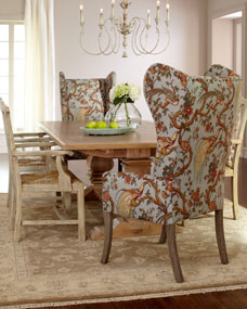Rowena Dining Table Pheasant Host Chair And Country Armchair