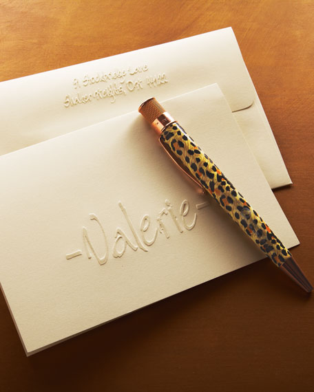 25 Calligraphy Folded Notes with Personalized Envelopes