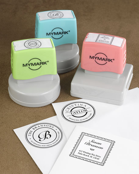 Round Name Self-Inking Stamp