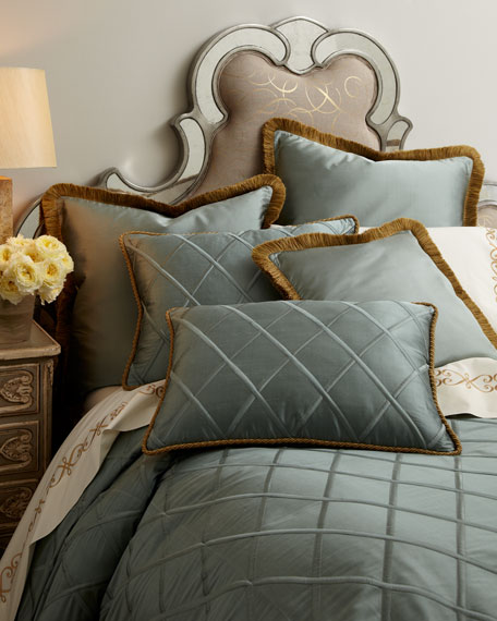 Diamond-Trellis European Sham w/ Brush Fringe