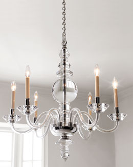 VISUAL COMFORT George II Polished-Silver Lighting