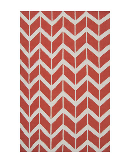 Chevron Flatweave Rug, 8' x 11'