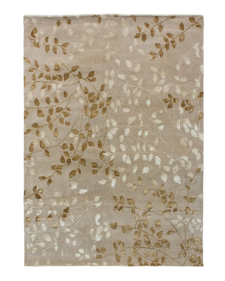 Tufted Leaves Rug, 10' x 14'