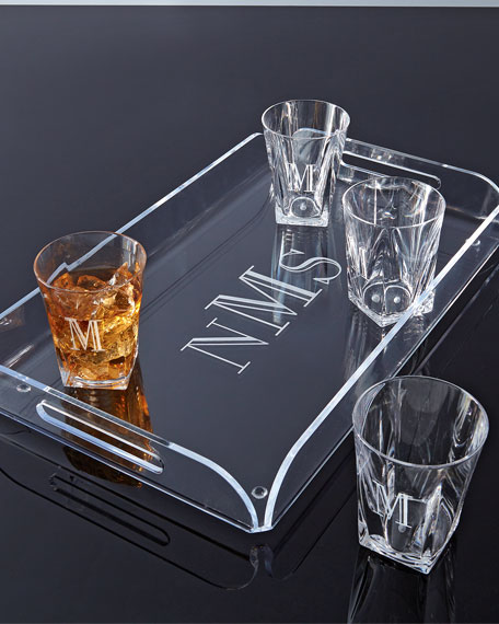 Monogrammed Acrylic Double Old-Fashioned