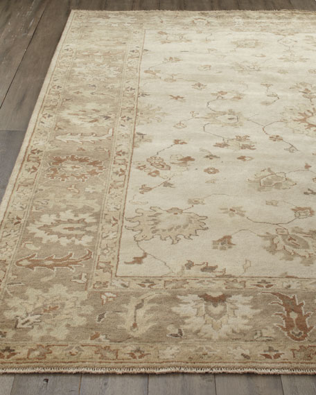 Sandy Vines Oushak Rug, 6' x 9'