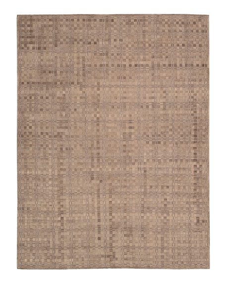 Derby Woven Leather Rug, 8' x 11'