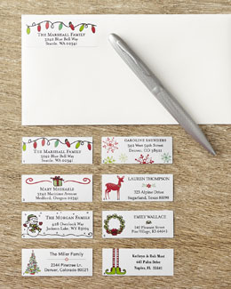 SIX B LABELS CORP Holiday Address Labels