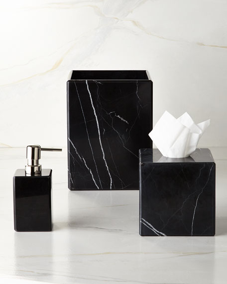 Luna Black Marble Pump Dispenser