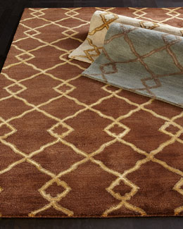 """Crossing Diamond"" Rug"