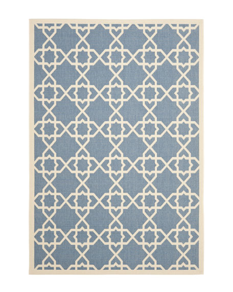"Locking Hex Rug, 6'7"" x 9'6"""