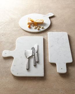 Park Hill Collections Antiqued-Silver Cheese Servers & Marble Cheese Boards