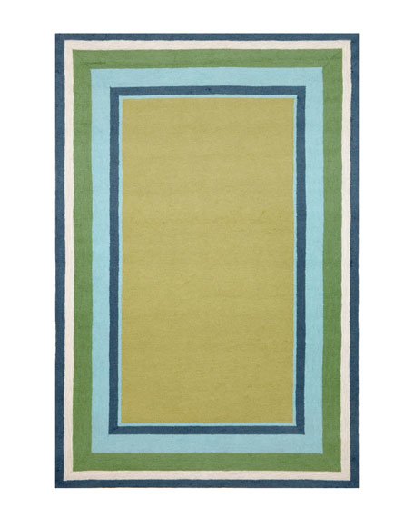 "Seaside Blocks Outdoor Rug, 7'6"" x 9'6"""