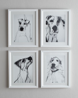 Black-and-White Dog Prints