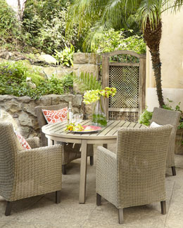 Portico Outdoor Dining Table & Alyssa Chair