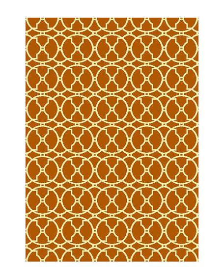 "Baja Circles Indoor/Outdoor Rug, 8'6"" x 13'"