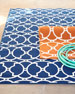 "Baja Circles Indoor/Outdoor Rug, 6'7"" x 9'6"""