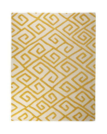 Greek-Key Maze Rug, 6' x 9'