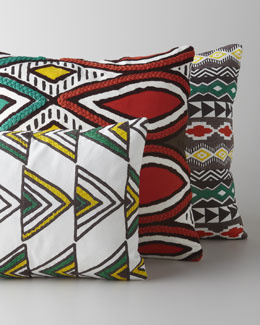 Suki Cheema Multicolored Embroidered Pillows