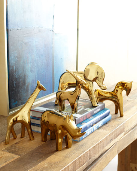Golden Elephant Sculpture